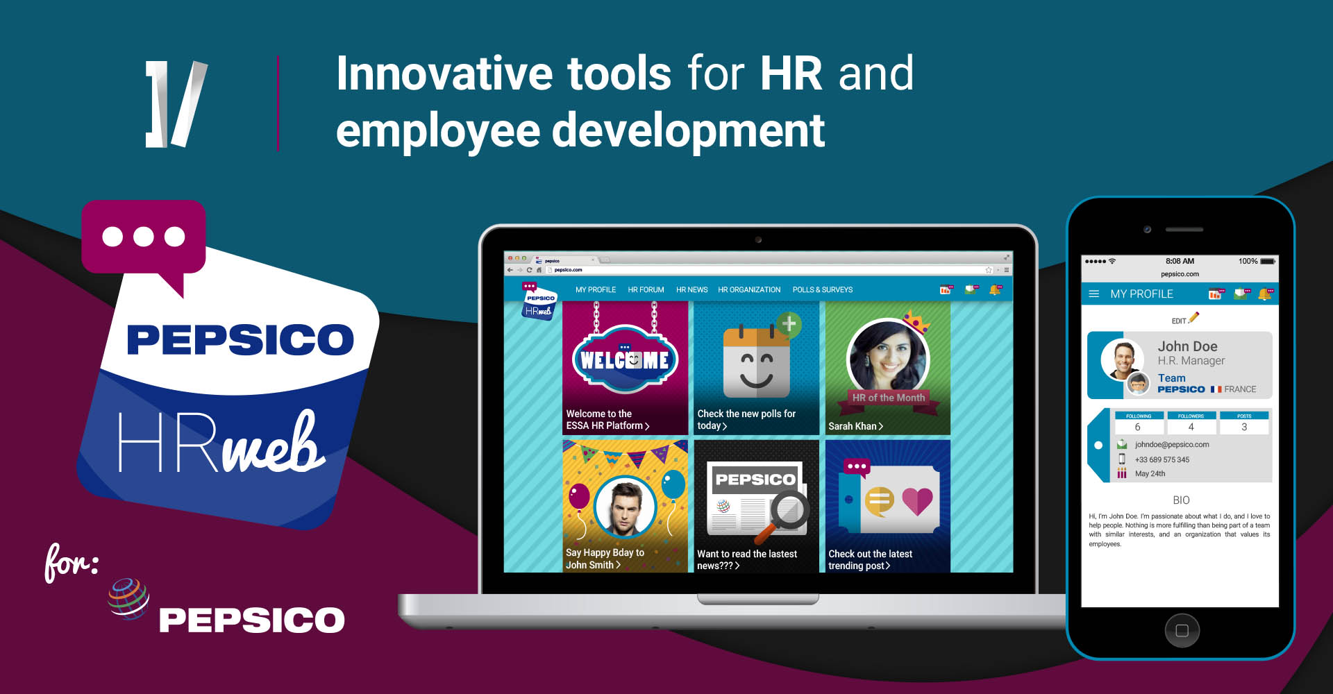 HR and employee development tools - pepsi